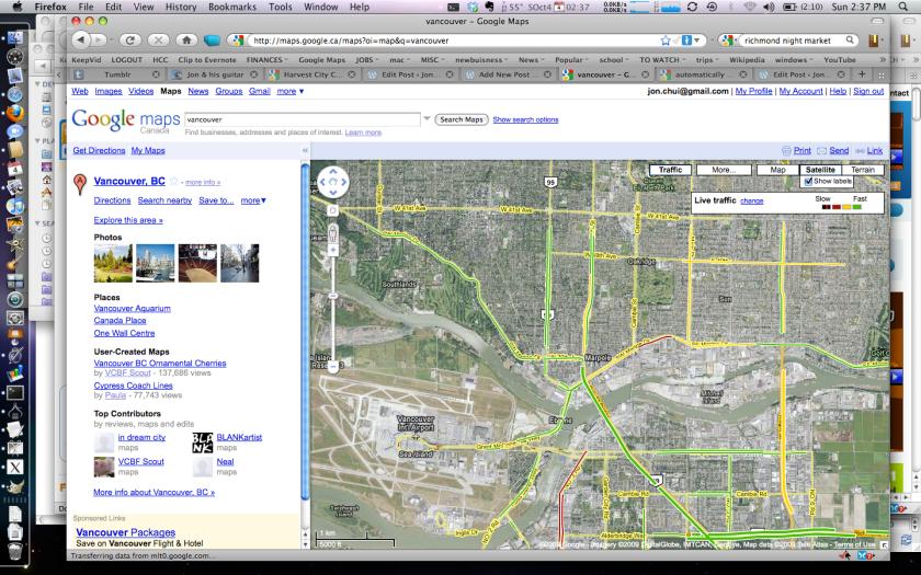 Vancouver Google Maps Traffic